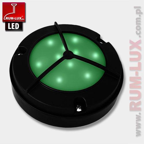 Oprawa LED-12 fasadowa [światło zielone | obudowa czarna]